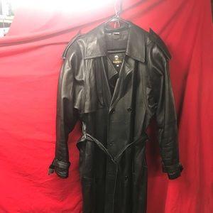 Neiman Marcus men's leather trench